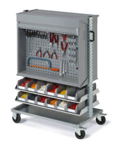 Box holder trolleys